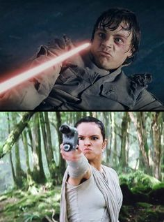 "Literally the most compelling argument I've seen for the ""Rey Skywalker"" theory. I'm dying"