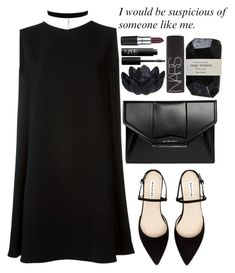 """#16 2016 (black choker)"" by dynh ❤ liked on Polyvore featuring McQ by Alexander McQueen, Sia, Cassia, Givenchy, NARS Cosmetics and M.A.C"
