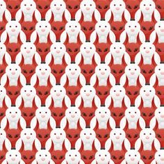 The image of a fox and rabbit are repeated through the entire print. The other thing is that foxes and rabbits are linked together as a prey and predator relationship. (Unity or Rhythm? Mc Escher Tessellations, Tessellation Patterns, Art Optical, Optical Illusions, Music Illustration, Graphic Illustration, Of Wallpaper, Pattern Wallpaper, Textures Patterns