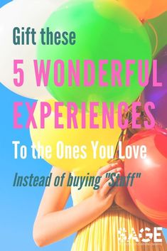Don't know what to give your loved one? Gift these 5 Wonderful Experiences - Sage Organizing Co.