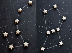 Constellation Cookies - what fun this would be at a birthday party.