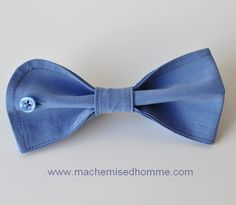 brooch bow tie for women - Repurposed shirt cuff - your choice of color. €20.00, via Etsy.