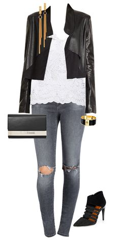 OPPOSITES ATTRACT. Though stylish on their own, the contrast of sweet lace and edgy leather is the perfect combination. Find the Style Corner from app's front page and see style tips from Samantha Scragg!