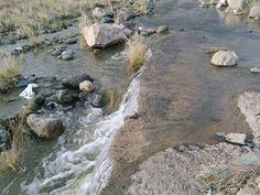 Desde las Islas Canarias  ..Fotografias  : Agua de lluvia entrando en la Charca de Maspalomas...