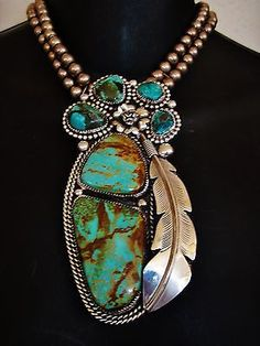 NATIVE-AMERICAN-TURQUOISE-LEATHER-BRACELET-136gr-Sterling-Silver-CHAVEZ-5-034-wide