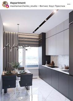 Big Kitchen Trends In 2016 - Interior Decor and Designing Grey Kitchen Interior, Modern Kitchen Interiors, Luxury Kitchen Design, Kitchen Room Design, Home Room Design, Kitchen Cabinet Design, Living Room Kitchen, Home Decor Kitchen, Home Kitchens