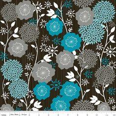 Designerstoffe USA - Stoff Andrea Victoria Blumen - ein Designerstück von LajaW bei DaWanda
