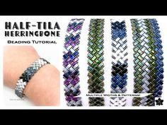 Beaded Necklace Patterns, Beaded Bracelets Tutorial, Beads Tutorial, Handmade Bracelets, Diy Tutorial, Beading Patterns Free, Seed Bead Patterns, Weaving Patterns, Seed Bead Bracelets Tutorials