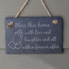 Bless This Home Slate Sign Welcome Sign Front Door Welcome