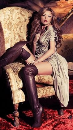 The Sexy Music Artist and Fashion Icon Elena Gheorghe Sexy Outfits, Sexy Dresses, Trendy Outfits, Nice Dresses, Leather Fashion, Fashion Boots, Fit Women, Sexy Women, Camel Boots