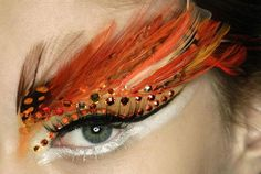 Feather up - a fanciful flaming phoenix eye.