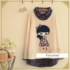 Buy 'Fairyland – Long-Sleeve Girl Appliqué Floral Collar Top' with Free International Shipping at YesStyle.com. Browse and shop for thousands of Asian fashion items from China and more!