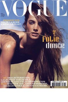 French Vogue Cover - June/July 2002