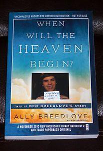 Ally Breedlove When Will Heaven Begin Story of Ben Near Death 2013 Arc | eBay