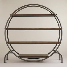 New Spring Collection featuring Cost Plus World Market's Round Bookcase  >> #WorldMarket Home Decor Ideas