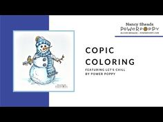 Copic Marker Coloring - Let's Chill Digital Stamp Set by Power Poppy Copic Markers, Digital Stamps, Inspire Me, Poppy, Chill, Coloring, About Me Blog, Let It Be, Make It Yourself