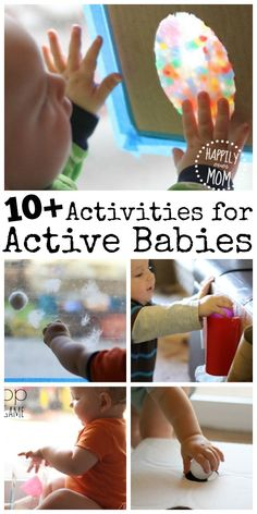 Active Activites for Babies - so simple, but so engaging for little ones!!