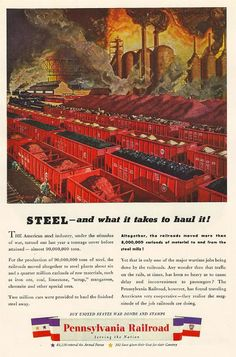 1944 Pennsylvania Railroad Steel - And What It Takes to Haul It