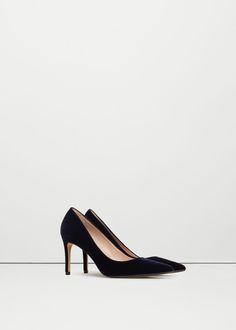 Παπούτσι από βελούδο με τακούνι -  Γυναίκα | MANGO ΜΑΝΓΚΟ Ελλάδα
