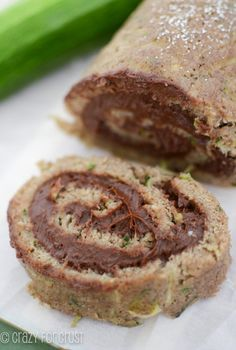 Zucchini Cake Roll by crazyforcrust.com | Filled with a chocolate cream cheese frosting!