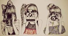 hipster girl drawing tumblr - Google Search