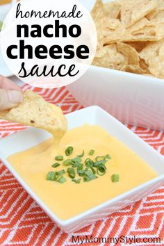 Homemade nacho cheese sauce using REAL cheese. No cheese product in this delicious dip. This is great for an appetizer, snack or for a nacho dinner. Homemade Nacho Cheese Sauce, Homemade Nachos, Cheese Sauce For Nachos, Taco Bell Nacho Cheese Sauce Recipe, Nacho Cheese Crockpot, Cheese Soup, Homemade Sauce, Cheddar Cheese, Mexican Food Recipes