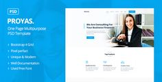 Buy Proyas - One Page Multipurpose PSD Template by Jit_Banik on ThemeForest. Description: Proysa is clean, modern and professional One Page Multipurpose PSD Template. PSD files are perfectly org. Grid System, Corporate Business, Psd Templates, Photoshop, Modern, Trendy Tree