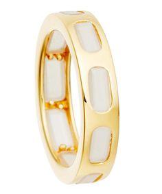 Astley Clarke Gold-Plated Moonstone Prismic Slice Ring