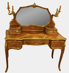 French Louis XV Style Dressing Table on 1stdibs. $3300 is a very good price.