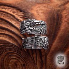Ring Odin's Ravens. Huginn and Muninn Ring. Raven Ring. Viking ring. Odin. Viking Jewel. Pagan Jewellery. Viking wedding ring. Celtic