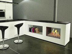 Gas Fireplace insert FIRENZE   Double-sided Fireplace insert by ITALKERO