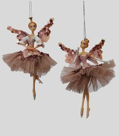 Kurt Adler Assorted White And Silver Ballerina Ornaments ...
