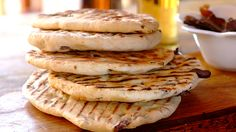 Biltong Flat Bread on the Braai - An easy home-made flat bread perfect for a celebratory braai.