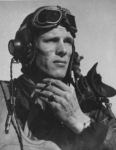 Vernon Richards of the Fighter Squadron. National Archives Photo and caption feature in Yellowjackets! The Fighter Group in World War II by Paul B. Cora - pin by Paolo Marzioli Human Reference, Photo Reference, Face Photography, Vintage Photography, Airplane Art, Fighter Pilot, Face Expressions, History Photos, Poses