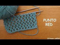 Como fazer rede de tricô com duas agulhas passo a passo - YouTube