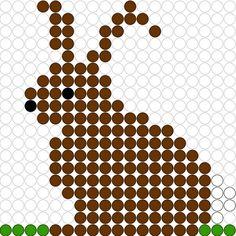 Kralenplank Paashaas 2 - Liselotje en het Paasfeest Pearler Bead Patterns, Pearler Beads, Class Pet, Craft Sale, Plastic Canvas Patterns, Crochet Designs, Bead Art, Holidays And Events, Beading Patterns