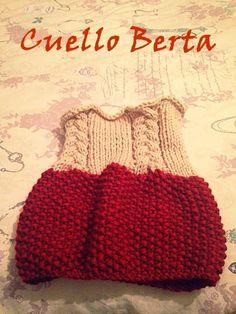 Cuello Berta #cuello #lana #wool #tejer #handmade #hechoamano #laboresenlaluna #handknitted #knit #tejer #calceta #lana #katia #patrón