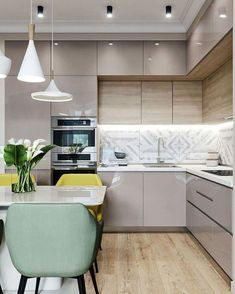 30 Modern Kitchen Interior Ideas To Inspire You Kitchen Cabinets Upper Idea Kitchen Room Design, Modern Kitchen Design, Home Decor Kitchen, Kitchen Living, Interior Design Kitchen, Home Kitchens, Kitchen Ideas, Kitchen Inspiration, Diy Kitchen