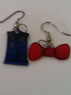 Doctor Who 11th Doctor Bow tie and TARDIS Earrings by NerdvanaMama, $5.00