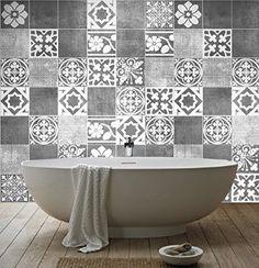 sticker art carrelage dco deluxe pour salle de bain pack avec 56 10 - Salle De Bain Art Et Decoration