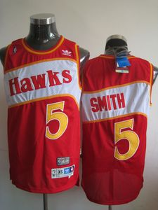 NBA Atlanta Hawks 5 Josh Smith Red Stitched Throwback NBA Jersey