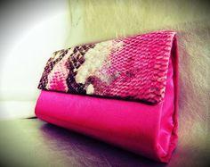 Clutch Rosa Pink com Estampado