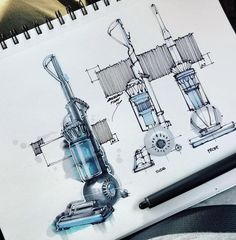 "398 Likes, 3 Comments - Begüm Tomruk (@begumtomruk) on Instagram: ""The full sketch of Braun 1972 HLD 5 and 1977 RS 60/65 with @copicmarker ☄️ Sketch photo by…"""