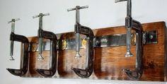 Industrial C Clamp coat rack, Urban Wood & Steel