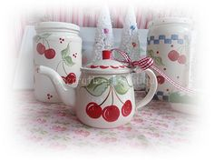 Retro cherry creamer by from my cherry heart, via Flickr