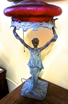 Antique Lady Lamp $895. #antique #vintage #appraisal