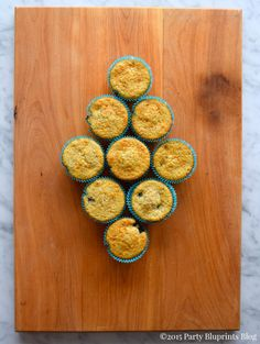 Whole Grain Blueberry Muffins | Party Blueprints