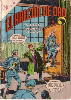 """Blackhawks publicado en México por Editorial Novaro como """"El Halcón de Oro"""" Dc Comic Books, Comic Book Covers, War Comics, Marvel Comics, Silver Age Comics, Old Cartoons, Old Magazines, Batman Robin, American Comics"""