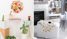Pompons para decorar a casa