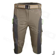 Arsuxeo AR1315 Mens Outdoor Water Resistant Trousers - Grey + Khaki (Size L)